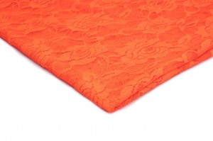 Stretch-Spitze Stoff Neon orange