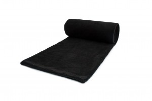 Fleece-Strickwaren 200 g/m² Schwarz