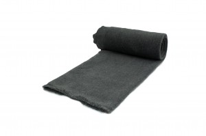 Fleece-Strickwaren 300 g/m² Dunkelgraue Melange